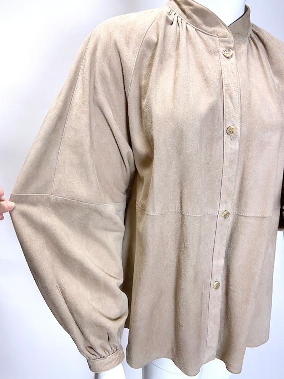1980s Suede Shirt Jacket - image 7