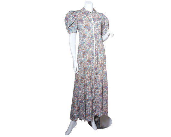 1930s to 40s Cotton Paisley House Dress