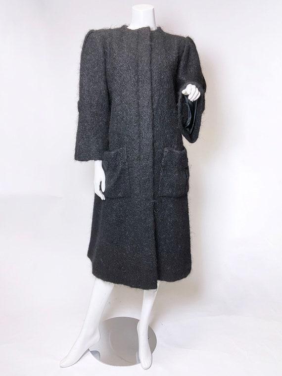 1980s Pauline Trigere Mohair Coat - image 2