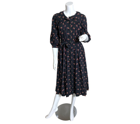 Cotton Ditsy Wrapper House Dress
