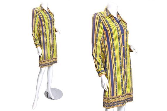1970s Vera Neumann Printed Shirt Dress - image 1