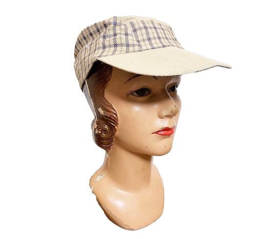 1950s to 60s Plaid Straw Cap Japan