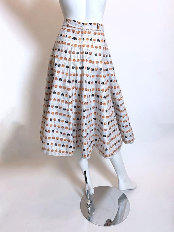 1950s to 1960s Best Mode Tulip Print Skirt - image 2