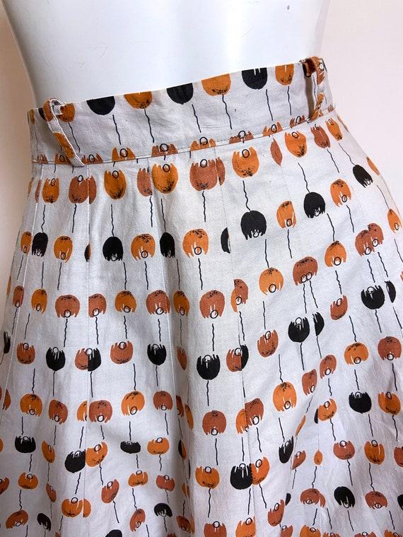 1950s to 1960s Best Mode Tulip Print Skirt - image 6