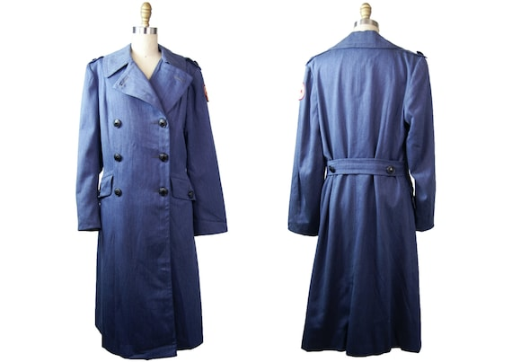 1950s American Red Cross Wool OverCoat