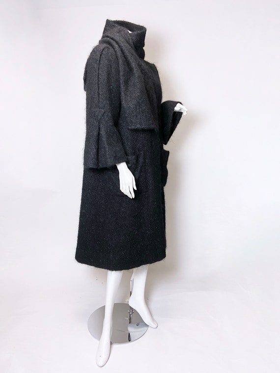 1980s Pauline Trigere Mohair Coat - image 5