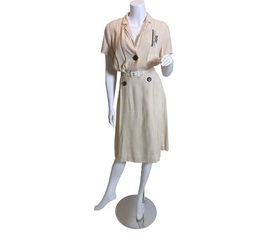1950s Rembrandt Original Linen Dress