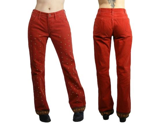 Vintage 1970s Ladies Landlubber Jeans Embellished… - image 1