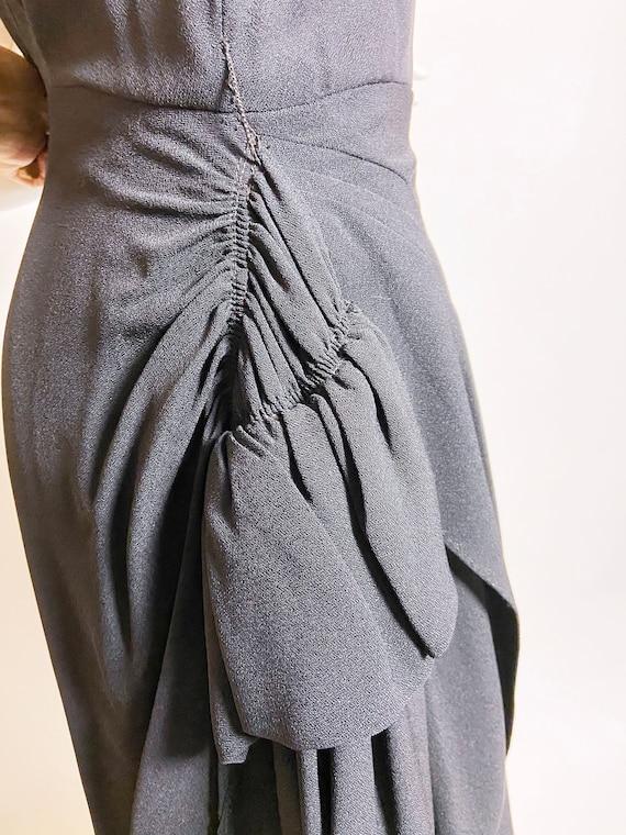 1940s Grovine Black Rayon Dress - image 7