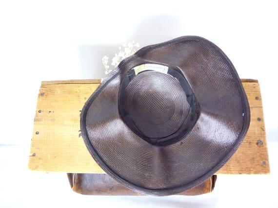 1940s Balibuntal Straw Tilt Hat with Flowers - image 8