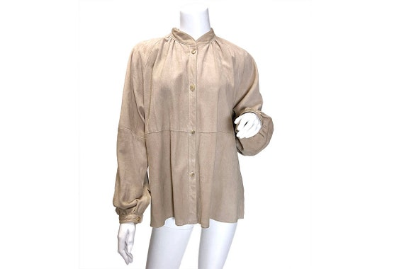 1980s Suede Shirt Jacket - image 1