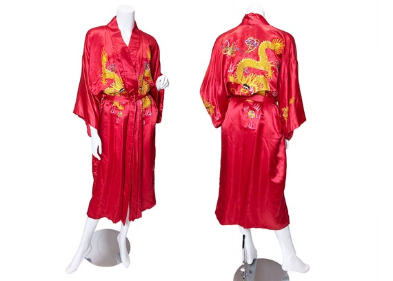 1970s Golden Bee Silk Robe