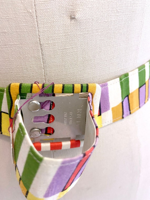 1950s to 60s Printed Belt - image 5