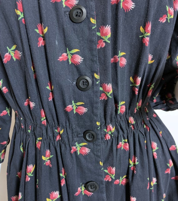 Cotton Ditsy Wrapper House Dress - image 6