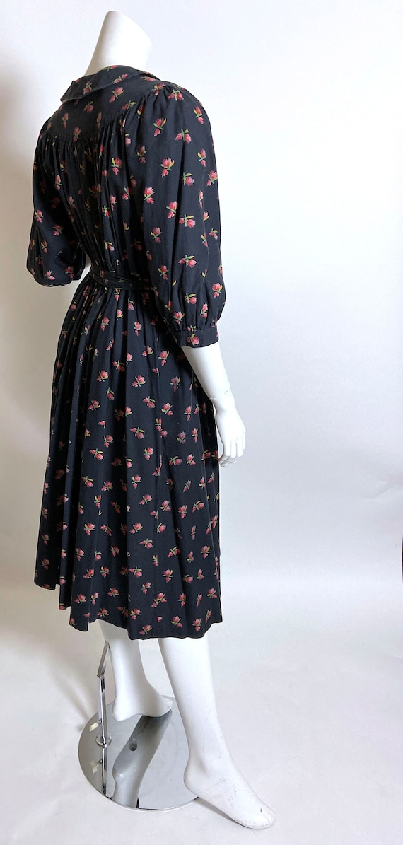 Cotton Ditsy Wrapper House Dress - image 4