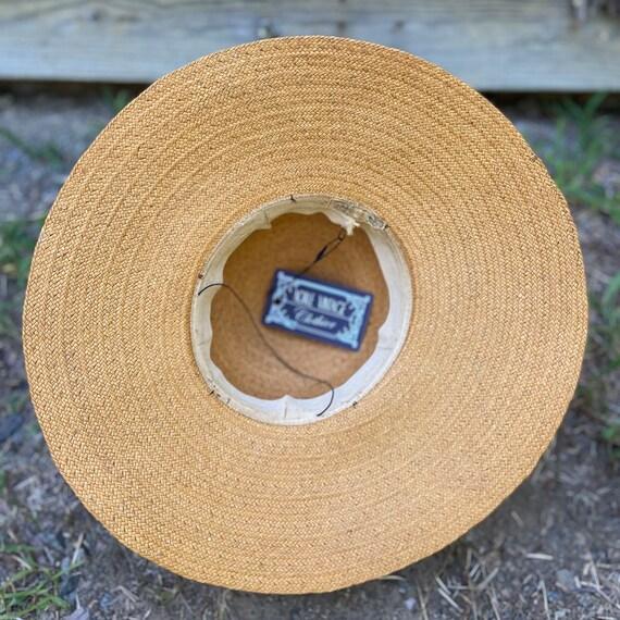 1940s Natural Straw Wide Brim Sun Hat - image 9