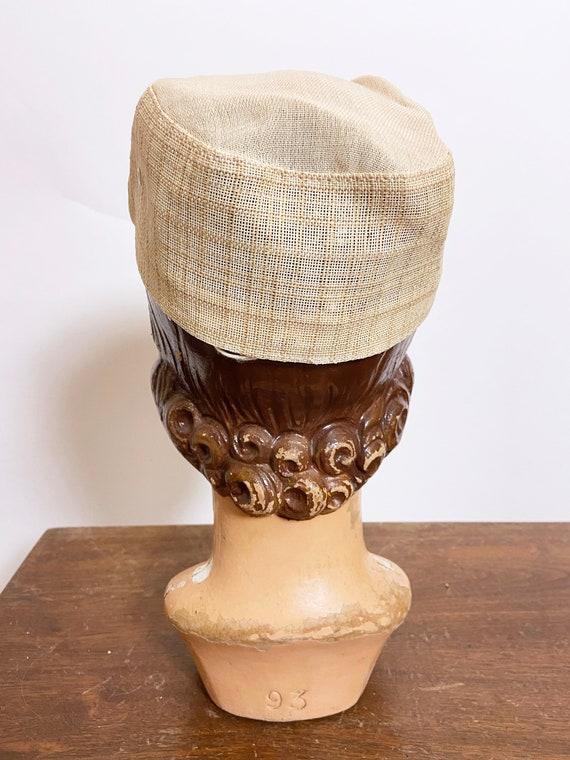 1950s to 60s Plaid Straw Cap Japan - image 3