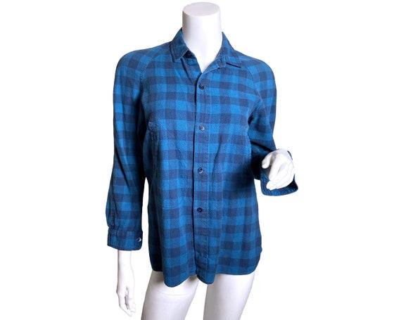 1980s Kenzo Jap Buffalo Plaid  Shirt - image 1