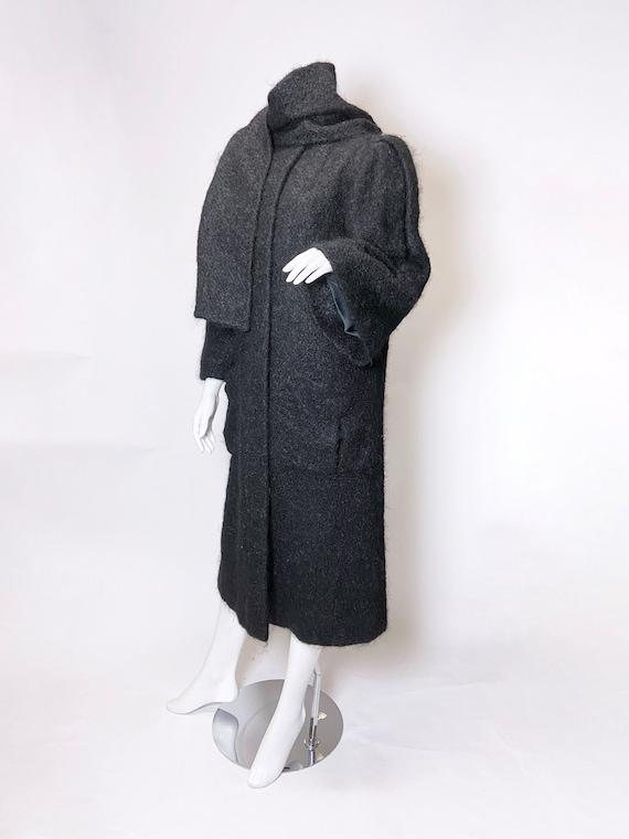 1980s Pauline Trigere Mohair Coat - image 7