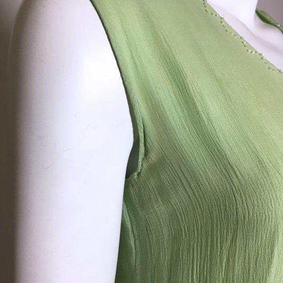 1920s Green Beaded Silk Chiffon Dress - image 6