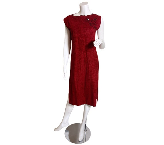 1970s Young Edwardian Microsuede Dress