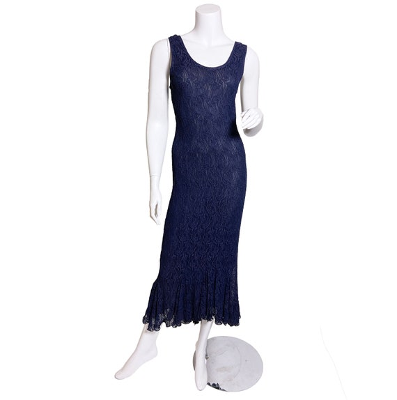 1990s does 30s Navy Blue Lace Dress
