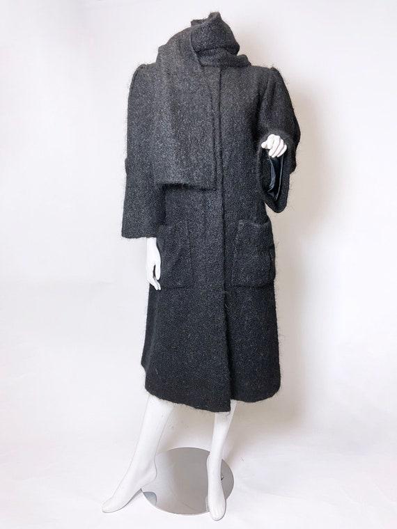 1980s Pauline Trigere Mohair Coat - image 3