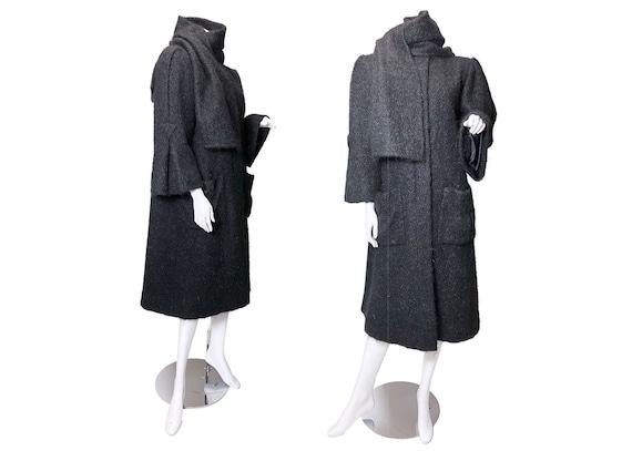 1980s Pauline Trigere Mohair Coat