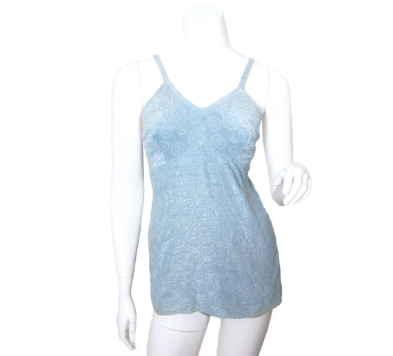 1940s Baby Blue Terry Swimsuit