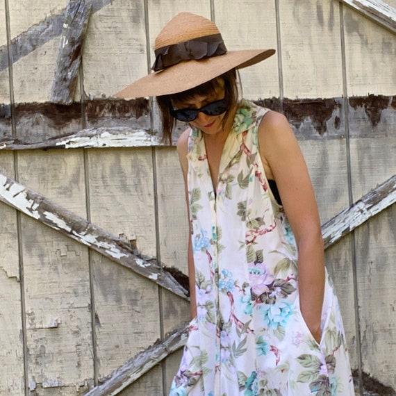 1940s Natural Straw Wide Brim Sun Hat - image 2