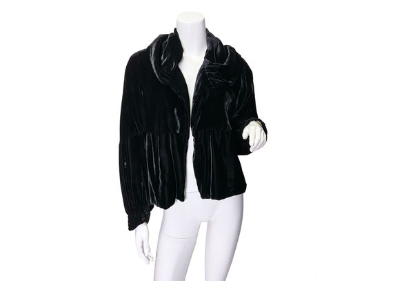 1930s Silk Rayon Velvet Evening Jacket