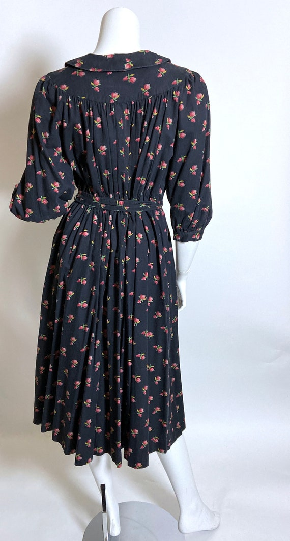 Cotton Ditsy Wrapper House Dress - image 3