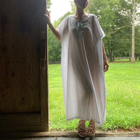 1920s Cotton Night Dress - image 1