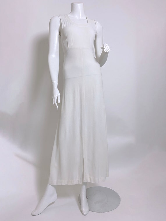 1940s White Rayon Sequin Dress and Jacket Set - image 9