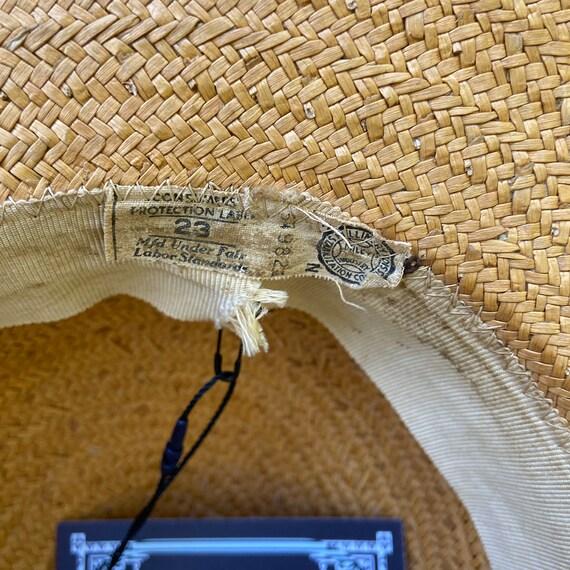 1940s Natural Straw Wide Brim Sun Hat - image 10