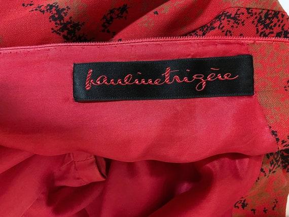 1980s Pauline Trigere Wool Printed Dress - image 8