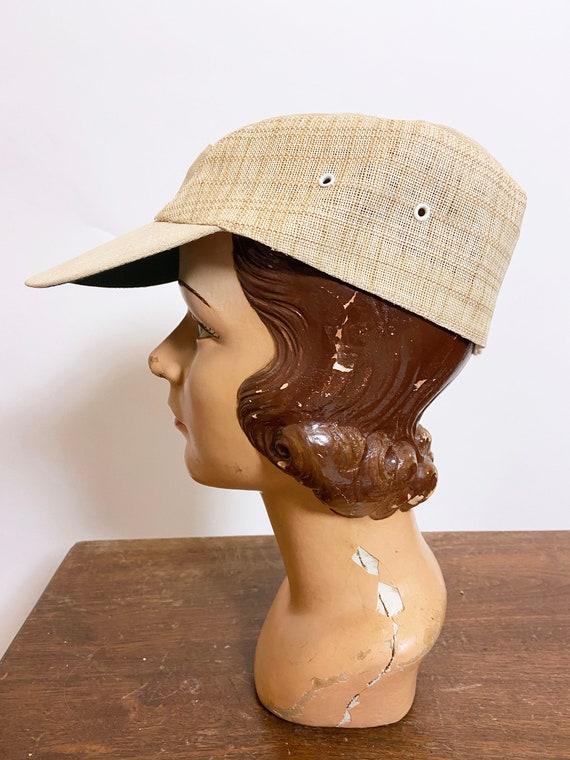 1950s to 60s Plaid Straw Cap Japan - image 2
