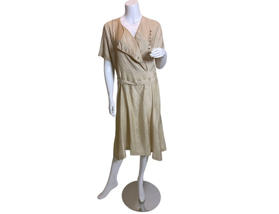 1920s Silk Pongee Dress