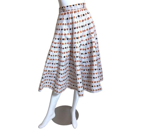 1950s Best Mode Tulip Print Skirt