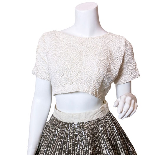 1960s Lace Cropped Top