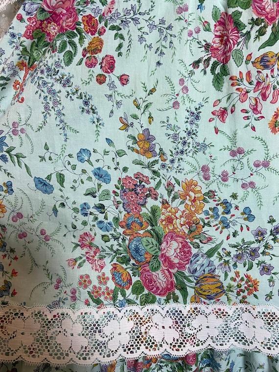 1980s Cotton Floral Print Dress - image 8