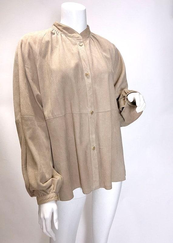 1980s Suede Shirt Jacket - image 6
