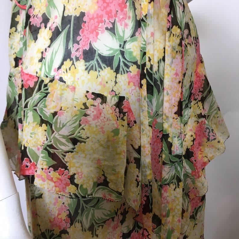 1930s Cotton Floral Dress