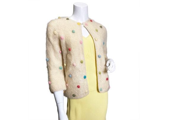 1960s Pastel Popcorn Cardigan Sweater Cyn Les