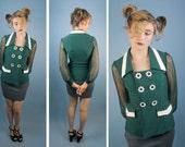 SALE Clueless Daisy Button Blazer w Sheer Sleeves