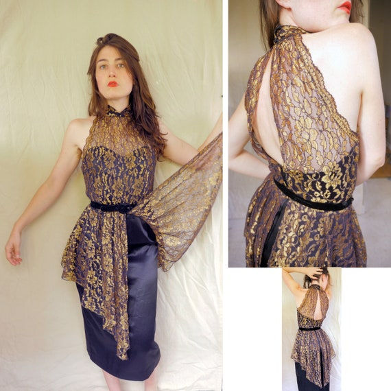Intoxicating Copper Lace Gown