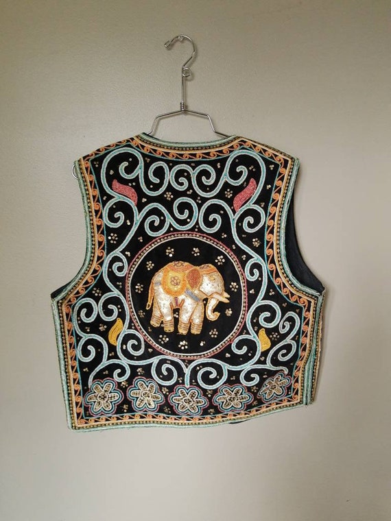 Intricate Embroidered Elephant Vest