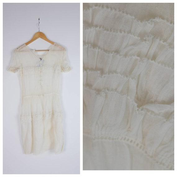 Gauzy Sheer 1900s Under Dress