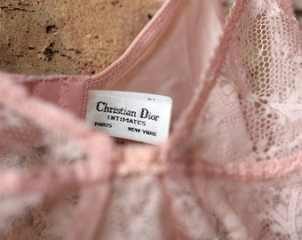 Vintage Christian Dior Sheer Lace Bra