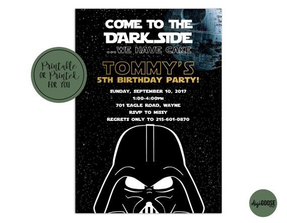 photo relating to Star Wars Invitations Printable referred to as Star Wars Invitation, Star Wars Birthday Invitation, Star Wars Invite, Star Wars Birthday Invite, Printable or Published, Dim Aspect, Darkish aspect